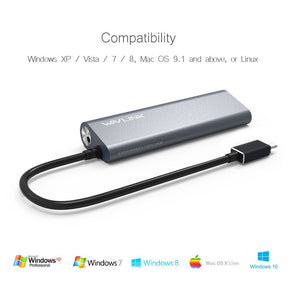 Wavlink USB-C to USB 3.0 4-Port Aluminum HUB