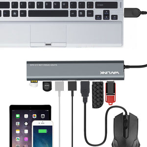 Wavlink USB 3.0 to USB3.0 7 Port Aluminum HUB