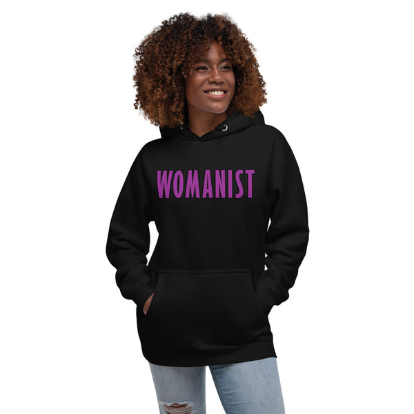 WOMANIST 💜Unisex Beautiful Black Hoodie