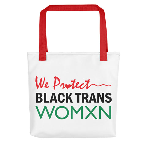 WE PR❤️TECT BLACK TRANS WOMXN Tote Bag