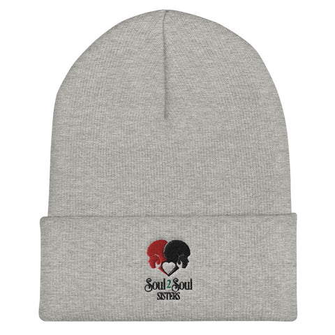 Soul 2 Soul Sisters Cuffed Embroidered Beanie, Unisex