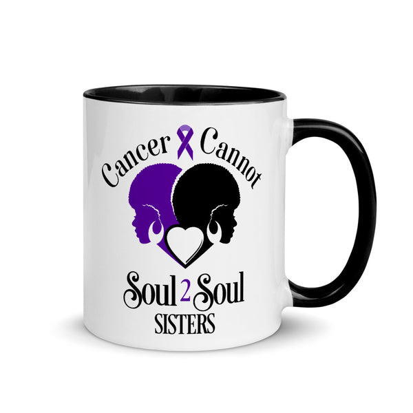 Cancer Cannot 💜Lavender = Survivors of ALL Cancers 💜Mug with Color Inside
