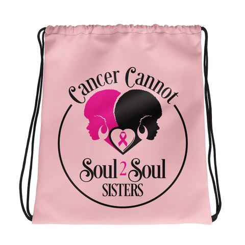Cancer Cannot 💗Drawstring Bag