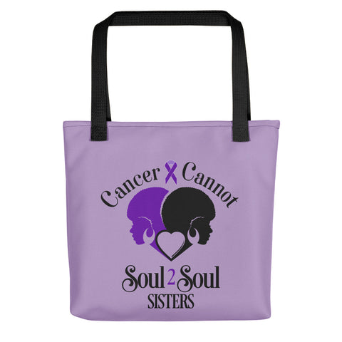 Cancer Cannot 💜Lavender = Survivors of ALL Cancers 💜Tote Bag