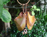 Bat, Wing Closed Copper Sculpture by Haw Creek Forge