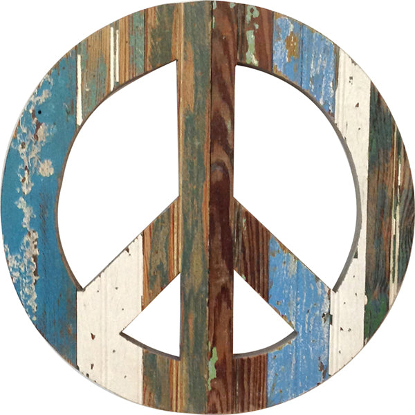 Peace Sign - Blue Wall Hanging Art by Dryads Dancing