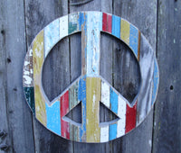 Peace Sign - Multicolor Wall Hanging Art by Dryads Dancing