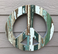 Peace Sign - Green, Wall Hanging Art by Dryads Dancing
