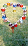 Heart - Glass Garden Sculpture by Diane Markin