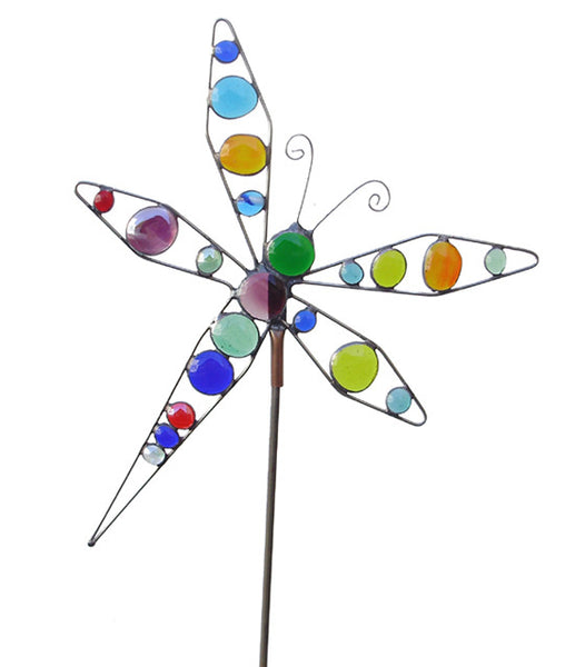 Dragonfly - Glass Garden Sculpture by Diane Markin