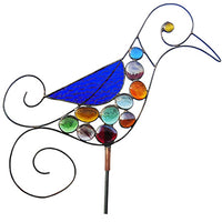 Hummingbird - Glass Gem Garden Sculpture by Diane Markin