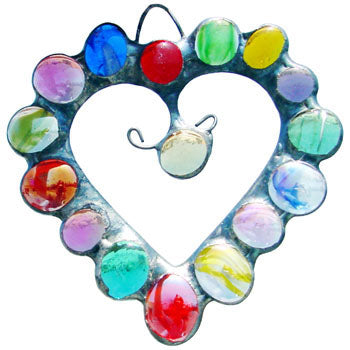 Heat - Glass Gem Ornament by Diane Markin