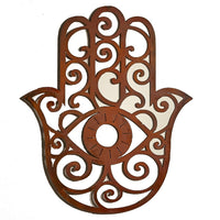 Hamsa Hand, Metal Wall Hanging Sculpture Art by Elizabeth Keith Designs