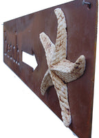 Beach Arrow Sign with Starfish, Outdoor Decor by Elizabeth Keith Designs