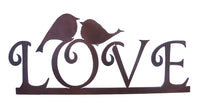 Love Birds Sculpture, Metal Wall Hanging Sculpture Art by Elizabeth Keith Designs