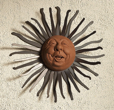 Happy - Sun, Wall Hanging Art by Elizabeth Keith Designs