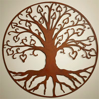 Tree Of Life, Metal Wall Hanging Sculpture Art by Elizabeth Keith Designs