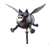 Flying Pig, Garden Sculpture by Artist Fred Conlon of Sugarpost