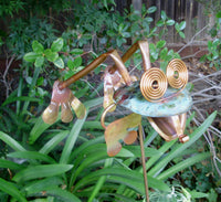 Leaping Frog - Copper Sculpture by Haw Creek Forge