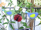 Lady Bug - Fused Glass Plant Stake by Glass Works Northwest