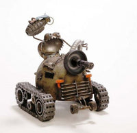 Grenade Holding Gnome Be Gone on Helmet Army Tank by Artist Fred Conlon of Sugarpost