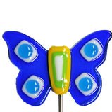 Butterfly, Blue - Fused Glass Plant Stake by Glass Works Northwest
