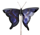 Butterfly- Blue - Copper Garden Sculpture - Haw Creek Forge