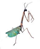 Praying Mantis Copper Sculpture by Haw Creek Forge
