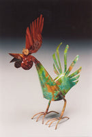 Rooster Copper Sculpture by Haw Creek Forge