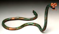 Snake Copper Sculpture by Haw Creek Forge