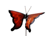 Butterfly- Orange - Copper Garden Sculpture - Haw Creek Forge