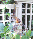 Bird On Nest Copper Sculpture by Haw Creek Forge