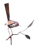 Bird On Branch Copper Sculpture by Haw Creek Forge