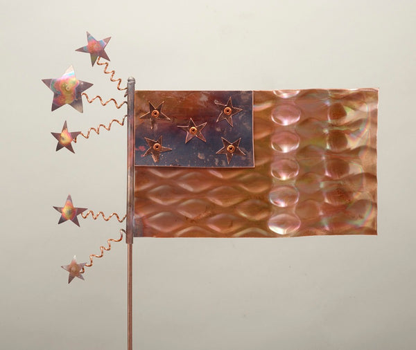 American Flag - Copper Sculpture by Haw Creek Forge