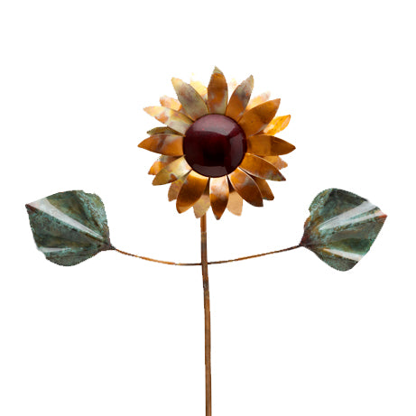 Flower - Copper Sculpture by Haw Creek Forge