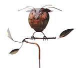 Owl On Branch - Copper Sculpture by Haw Creek Forge