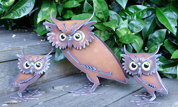 Owl Metal Outdoor Decor by Henry Dupere