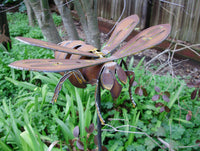 Bee Metal Garden Art by Henry Dupere