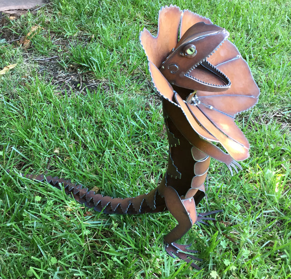 Frilled Neck Lizard Sculpture by Henry Dupere