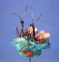 Wedding - Praying Mantis - Copper Sculpture by Haw Creek Forge