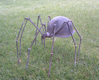 Large Scary Spider Sculpture Army Helmet by Artist Fred Conlon of Sugarpost