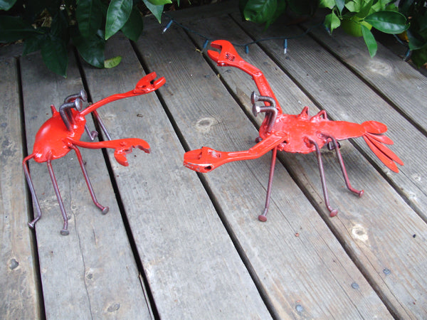 Crab & Lobster, Garden Sculpture by Artist Fred Conlon of Sugarpost