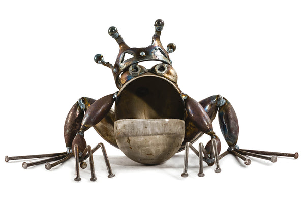 Frog Prince, Garden Sculpture by Artist Fred Conlon of Sugarpost