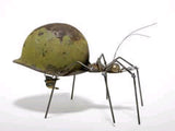 Army Ant, WW2 Helmet, Garden Sculpture by Artist Fred Conlon of Sugarpost