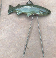 Trout, Ceramic Garden Sculpture by JJ Potts