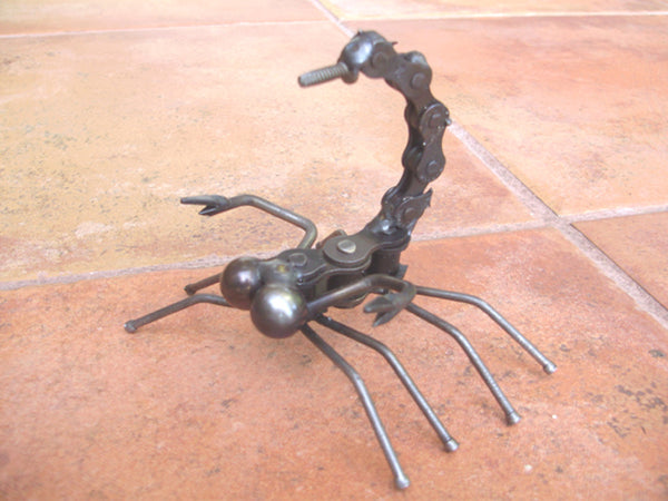 Scorpion -Small Metal Garden Sculpture by Yardbirds