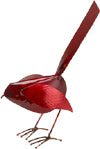 Copper Bird Standing - Red