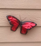 Butterfly- Red - Copper Garden Sculpture - Haw Creek Forge