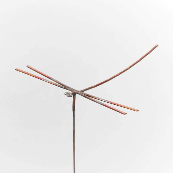 Dancing Dragonfly Copper Sculpture by Haw Creek Forge