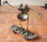 GBG Riding Skateboard, Garden Sculpture by Artist Fred Conlon of Sugarpost